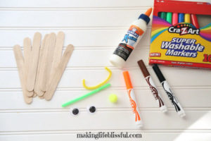Supplies needed to make easy Halloween craft