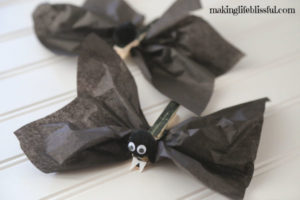 Cute Halloween Bat craft for kids