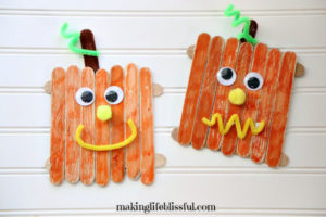 pumpkin craft stick craft