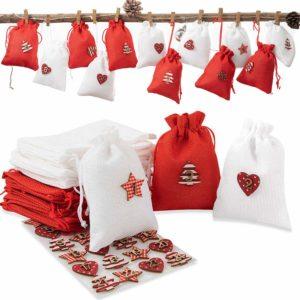 Cute Advent Calendar Bags.