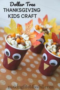 dollar store thanksgiving kids craft