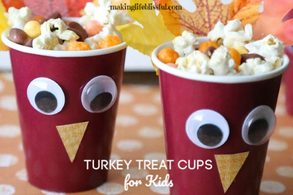 Thanksgiving Treat Cups for Kids