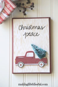vintage Christmas truck craft