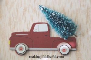 vintage truck christmas craft 3