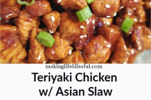 Teriyaki chicken with asian slaw 2