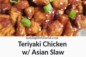 Teriyaki chicken with asian slaw 2