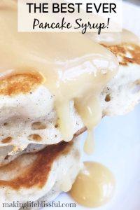 BEST Pancake syrup recipe