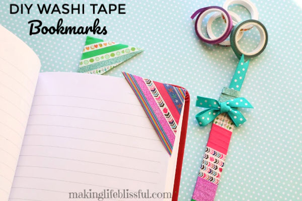 DIY Washi Tape Bookmarks