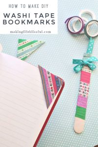 diy washi tape bookmark 5
