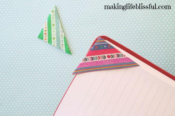 Easy corner envelope bookmarks