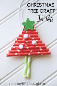 paper-straw-christmas-tree-craft